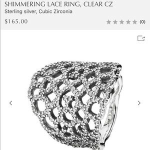 Authentic Pandora Shimmering Lace Ring